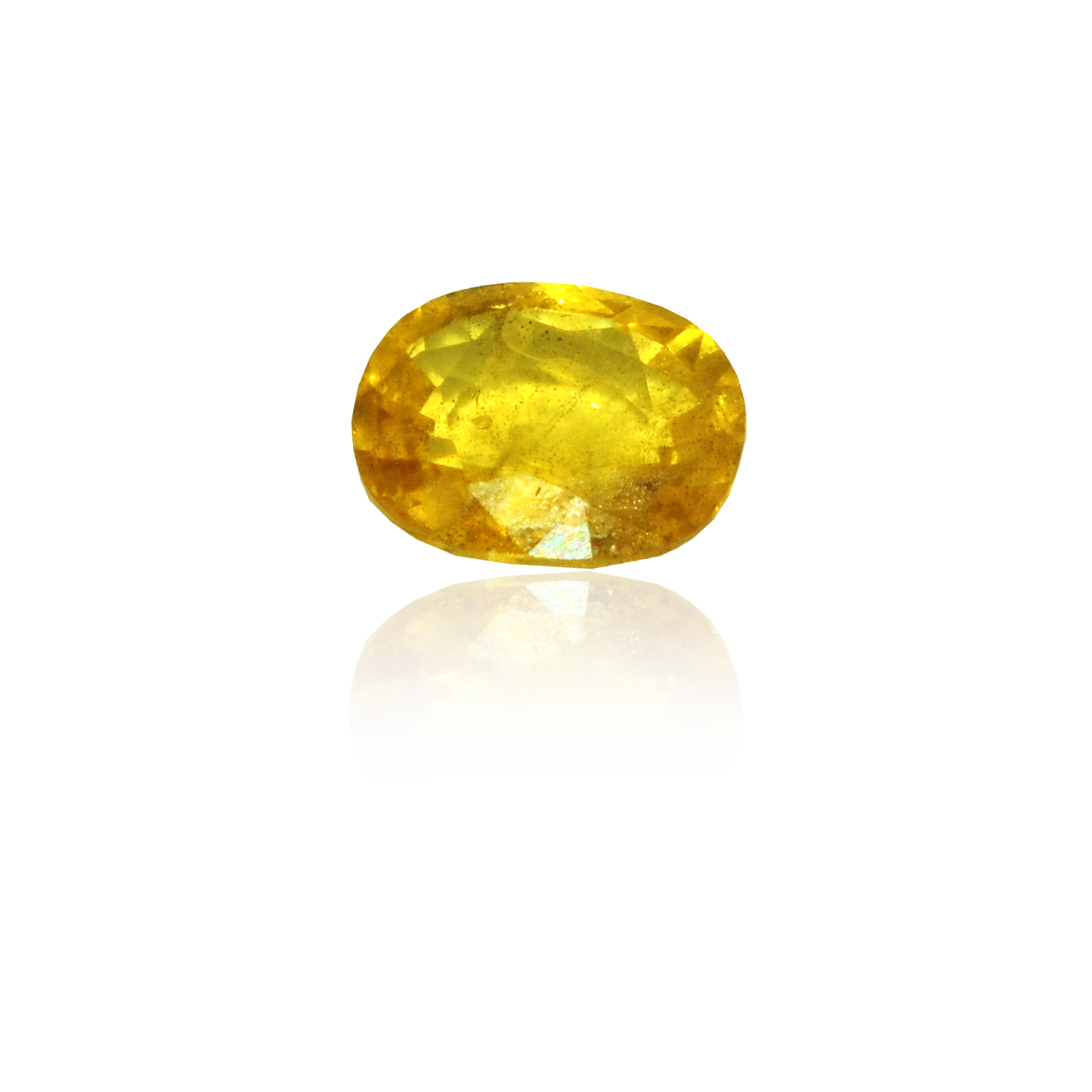 6.31 CARAT, OVAL MIXED CUT NATURAL YELLOW SAPPHIRE