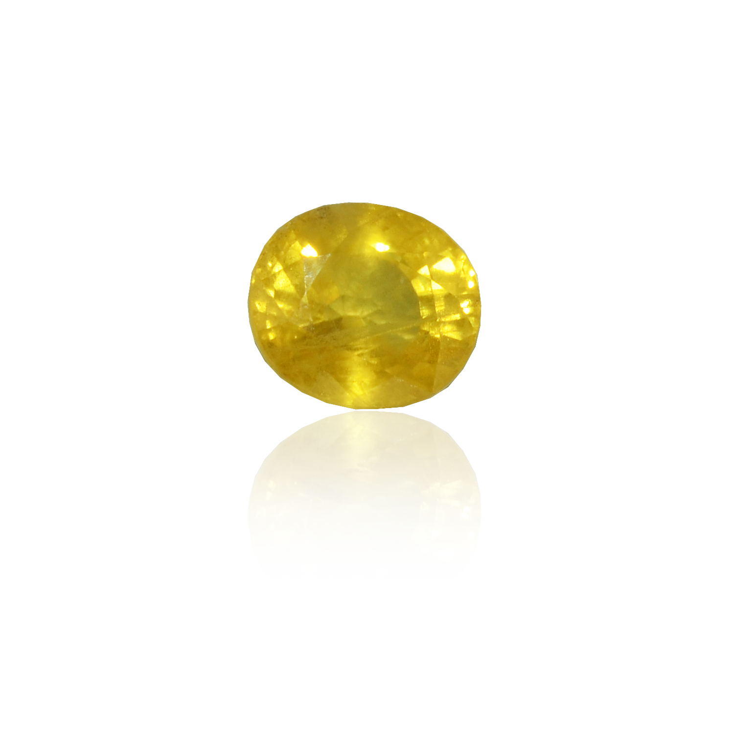 6.12 CARAT, OVAL MIXED CUT NATURAL YELLOW SAPPHIRE