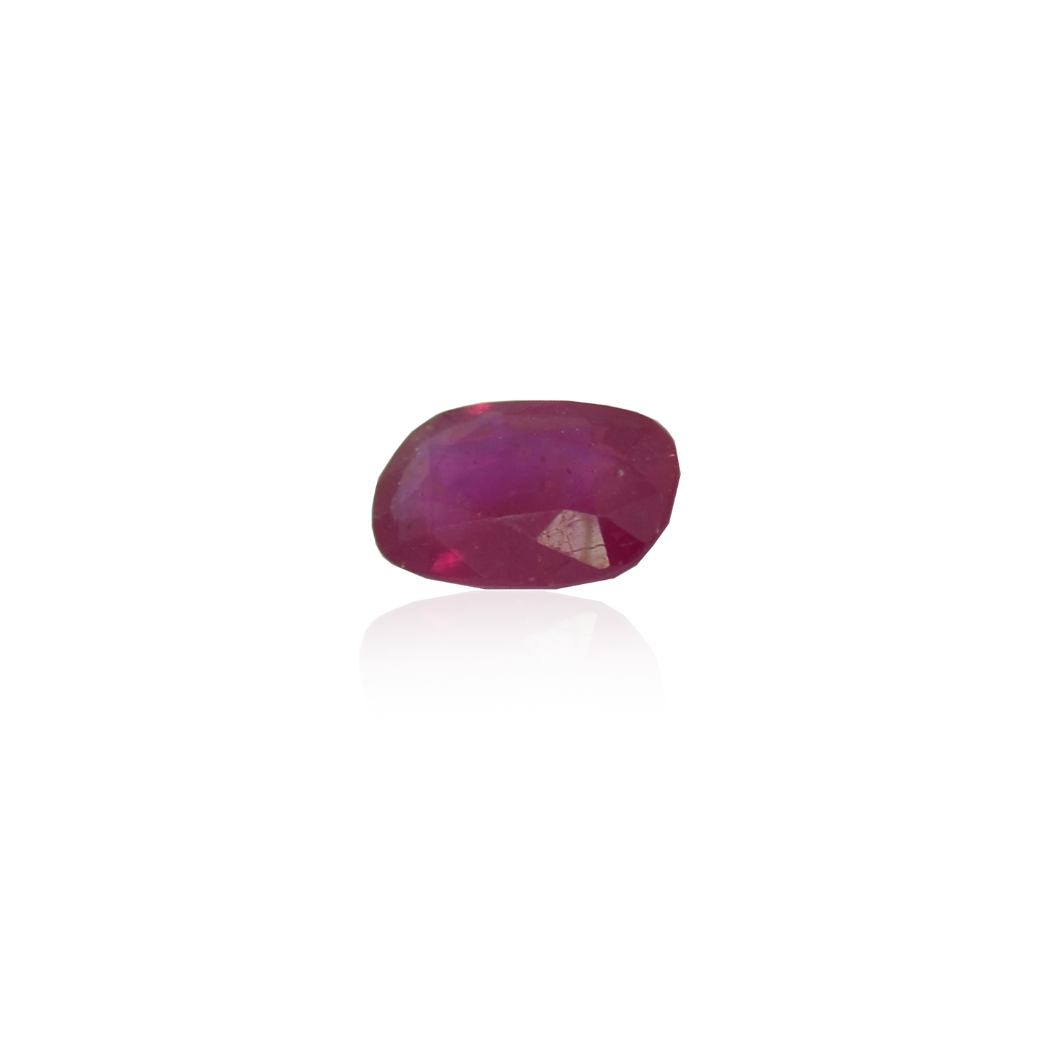 4.76 CARAT, OVAL MIXED CUT NATURAL RUBY