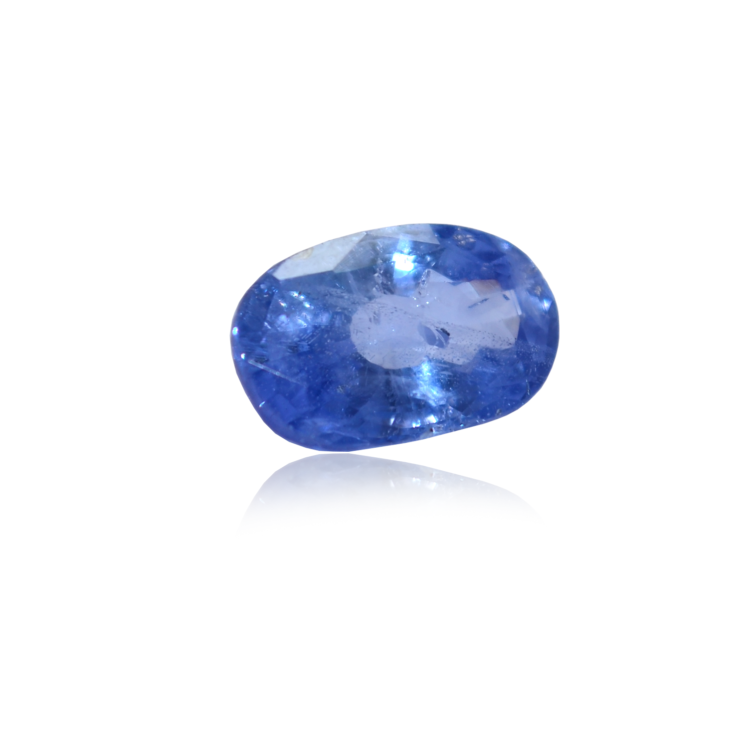 5.60 CARAT, OVAL MIXED CUT NATURAL BLUE SAPPHIRE