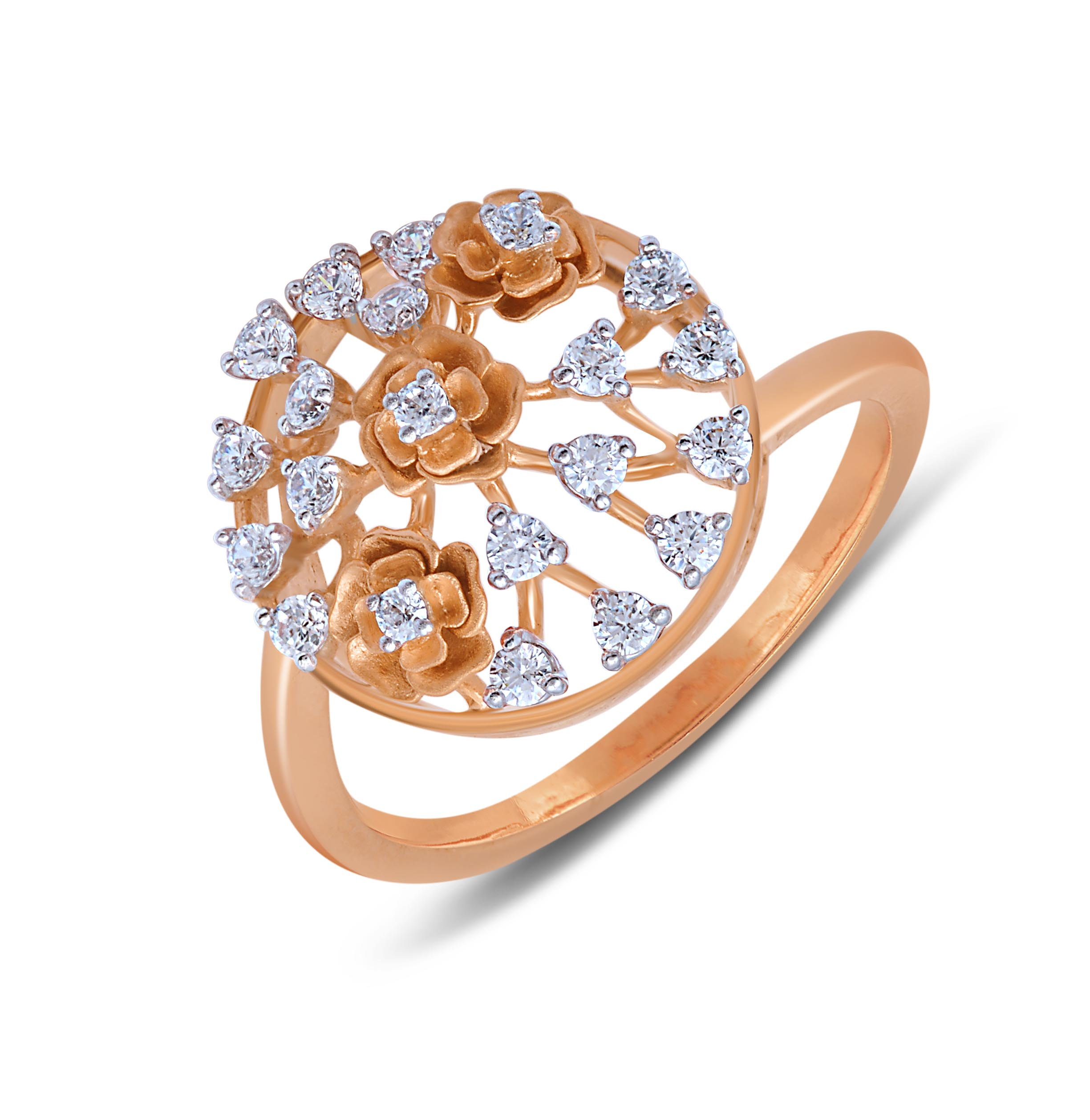 Opulent Diamond Studded Ring