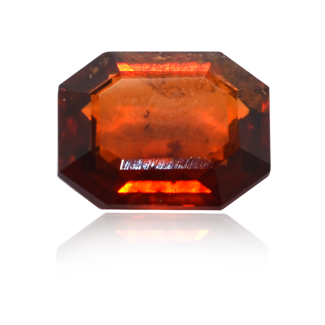 7.18 CARAT, OCTAGONAL MIXED CUT NATURAL HESSONITE GARNET