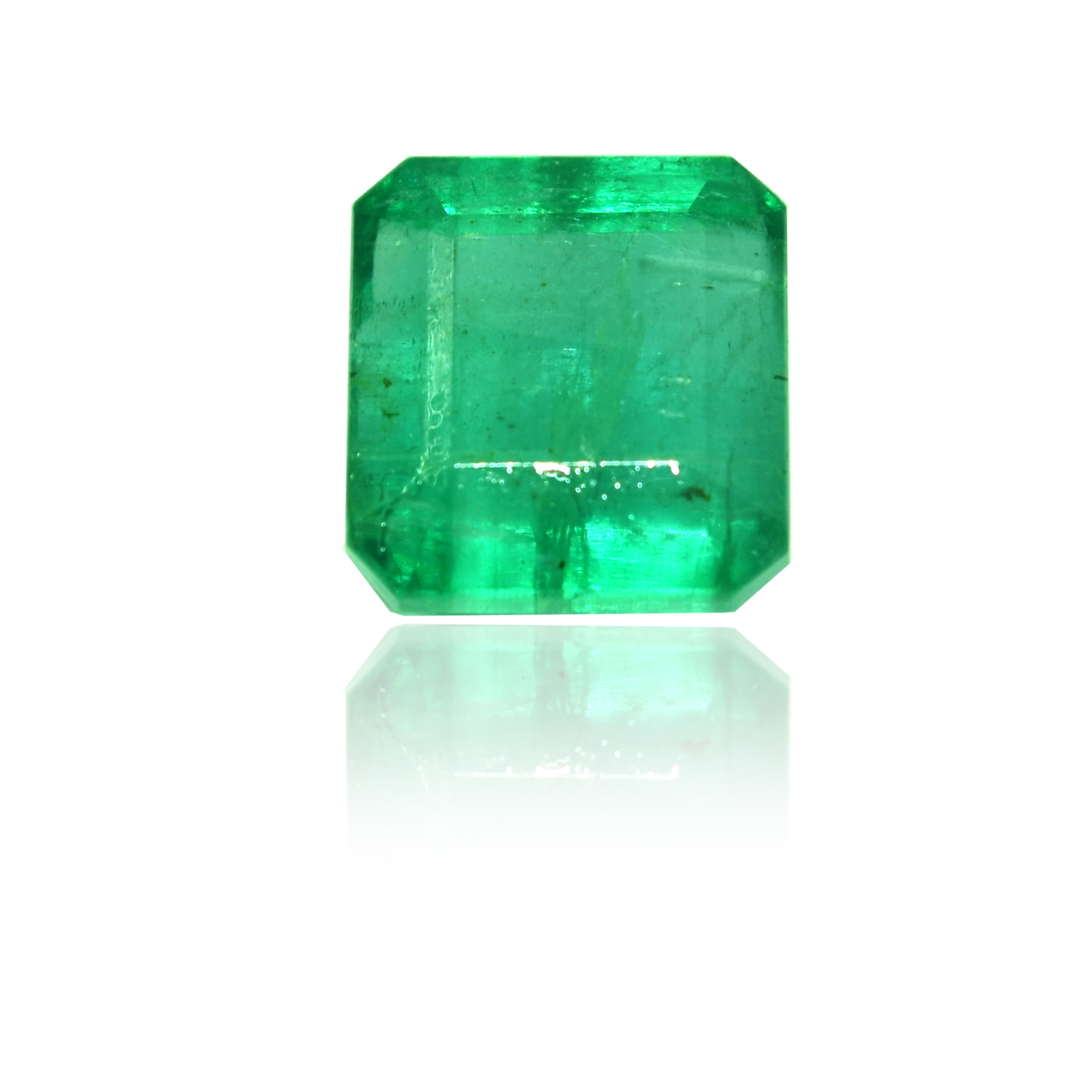 7.78 CARAT, SQURE MIXED CUT NATURAL EMERALD