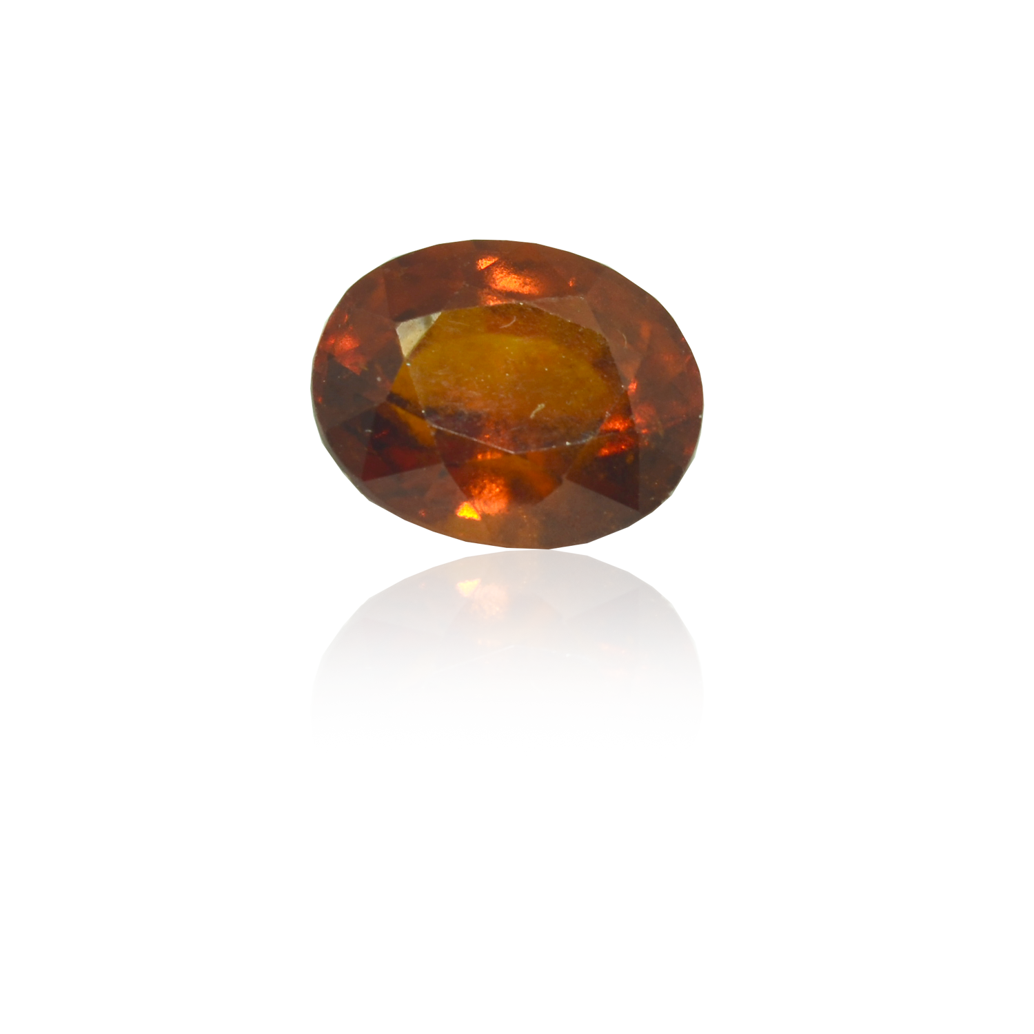 6.80 CARAT, OVAL MIXED CUT NATURAL HESSONITE GARNET