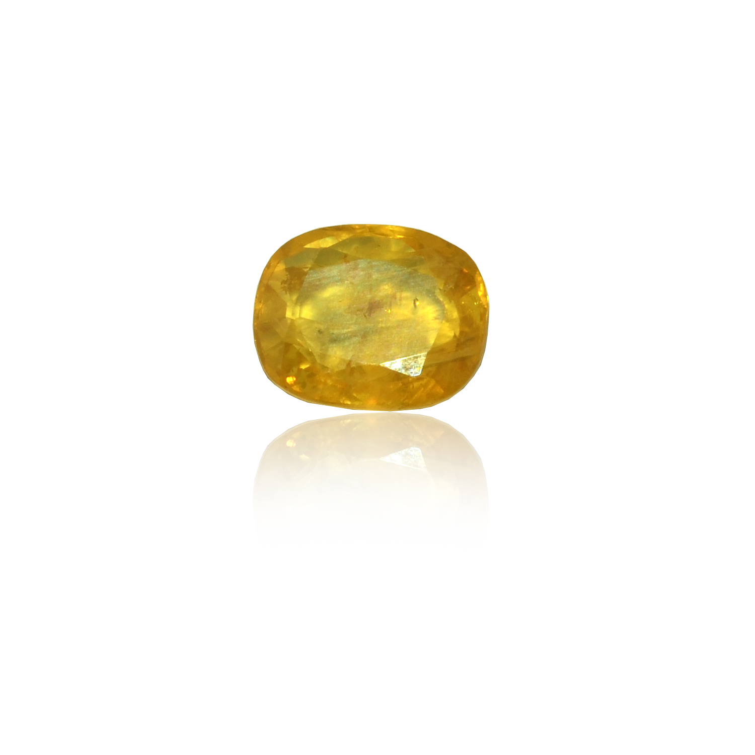 3.69 CARAT, OVAL MIXED CUT NATURAL YELLOW SAPPHIRE