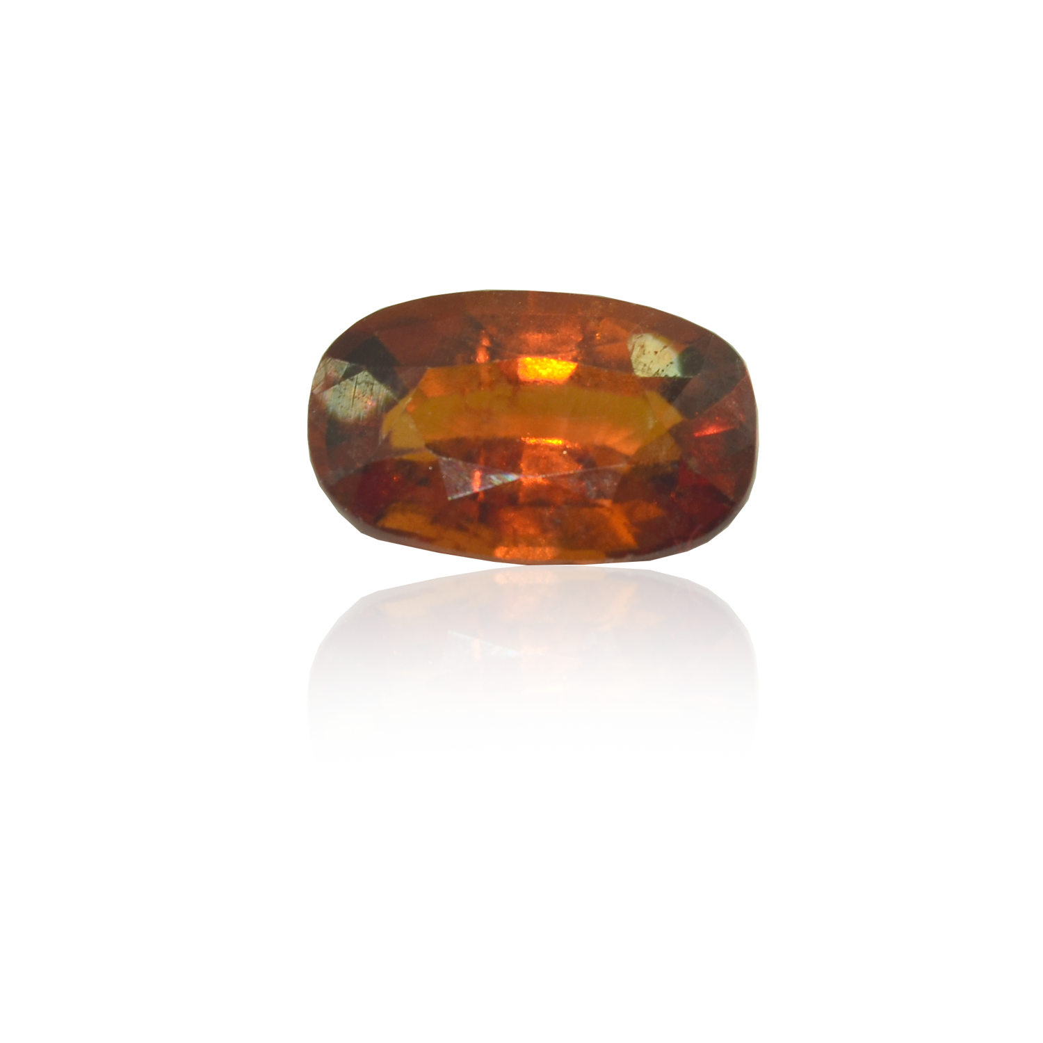 4.62 CARAT, OVAL MIXED CUT NATURAL HESSONITE GARNET