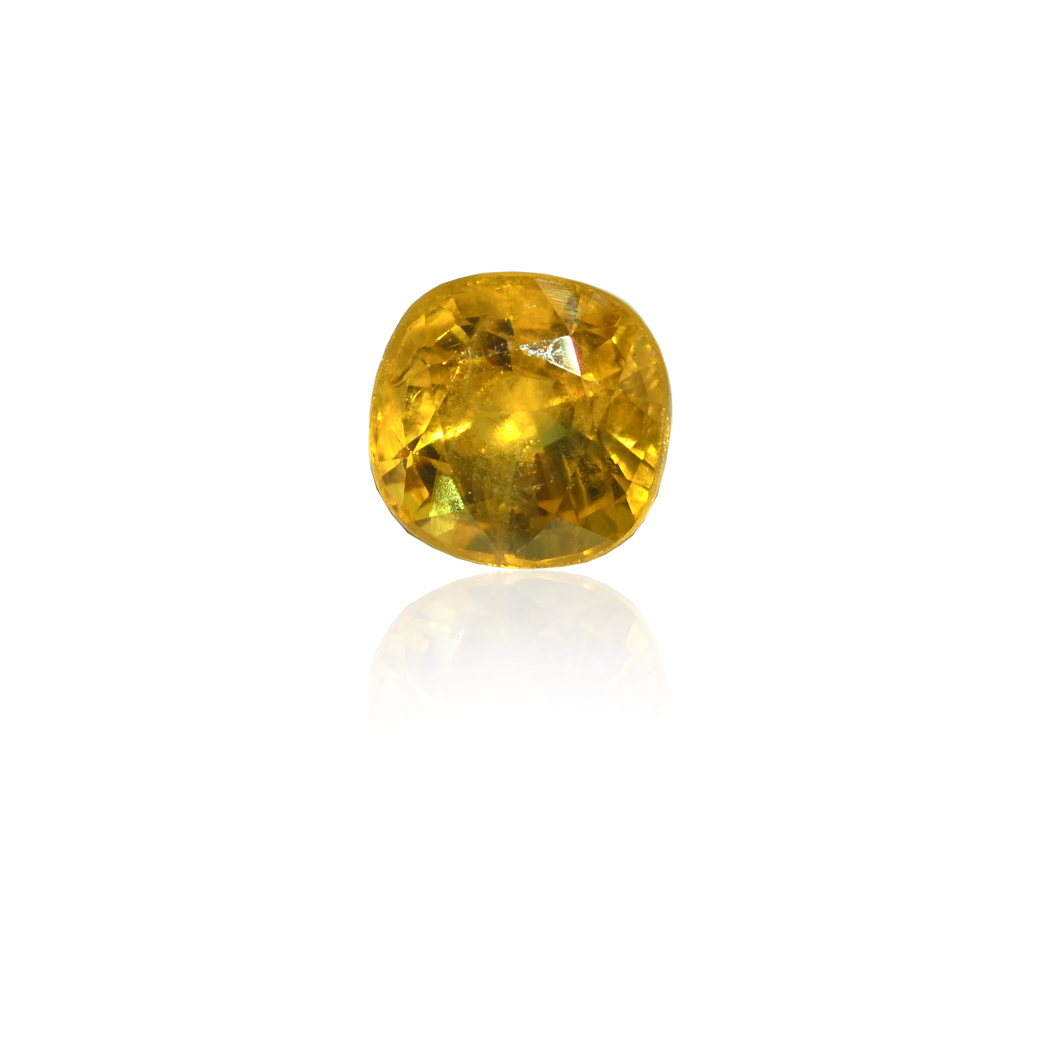 6.15 CARAT, OVAL MIXED CUT NATURAL YELLOW SAPPHIRE