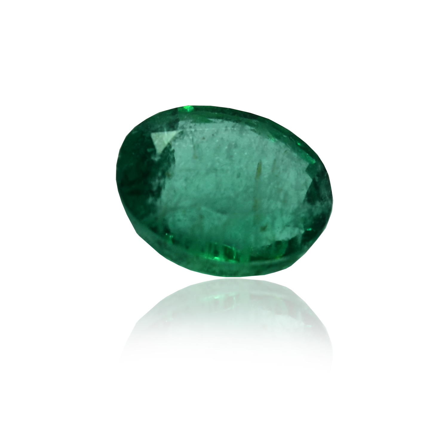 7.02 CARAT, OVAL MIXED CUT NATURAL EMERALD