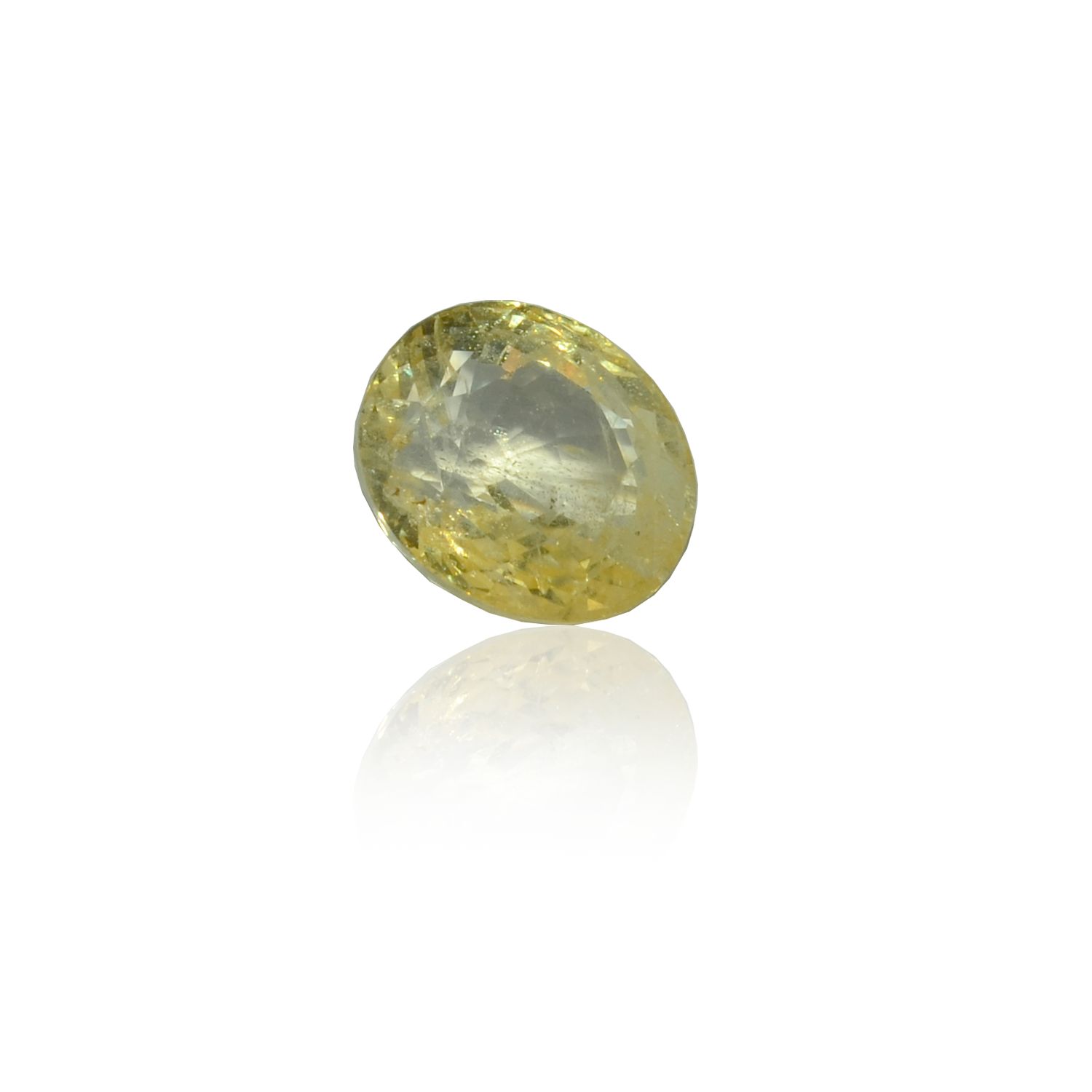 6.26 CARAT, OVAL MIXED CUT NATURAL YELLOW SAPPHIRE