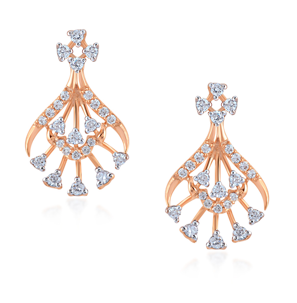 Captivating Art Diamond Earrings