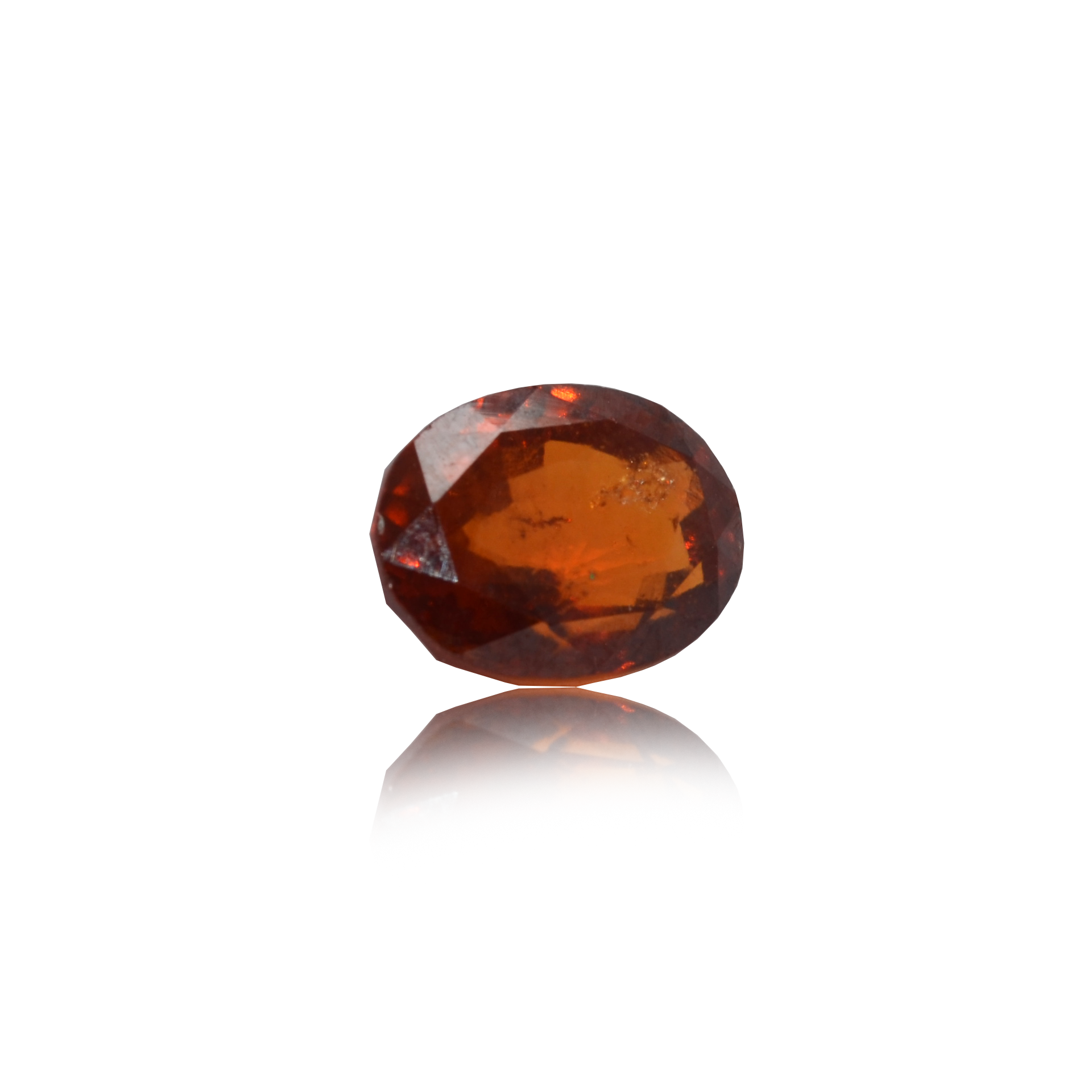 4.91 CARAT, OVAL MIXED CUT NATURAL HESSONITE GARNET