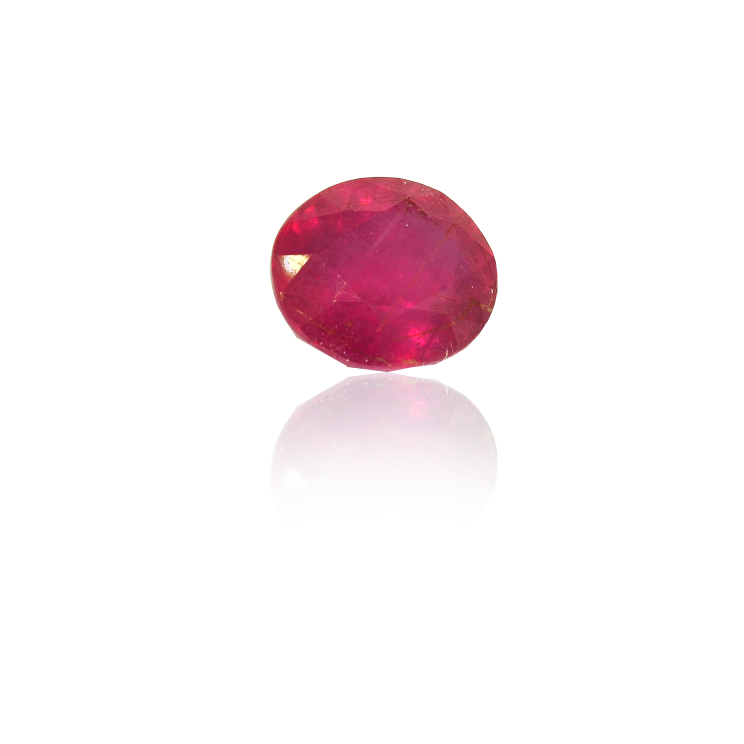 8.20 CARAT, OVAL MIXED CUT NATURAL RUBY