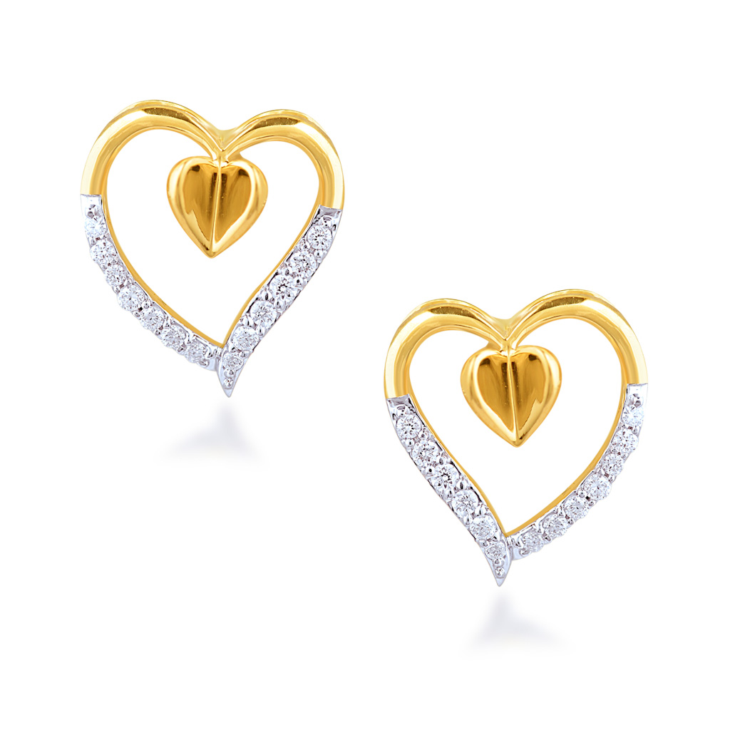 Appealing Pair Diamond Earrings