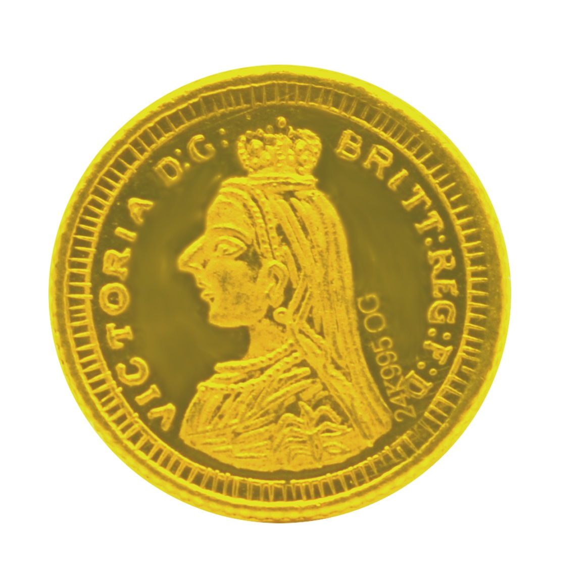 5 Grams, 24KT (995) Pure Gold Coin