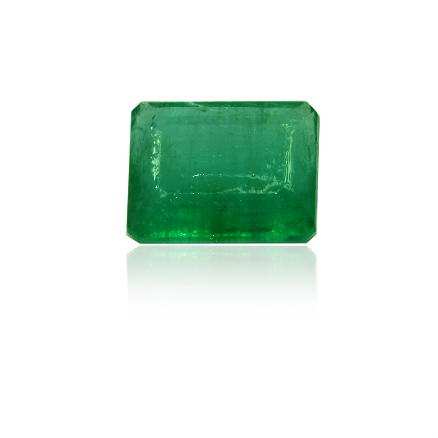 7.35 CARAT, EMERALD STEP CUT NATURAL EMERALD
