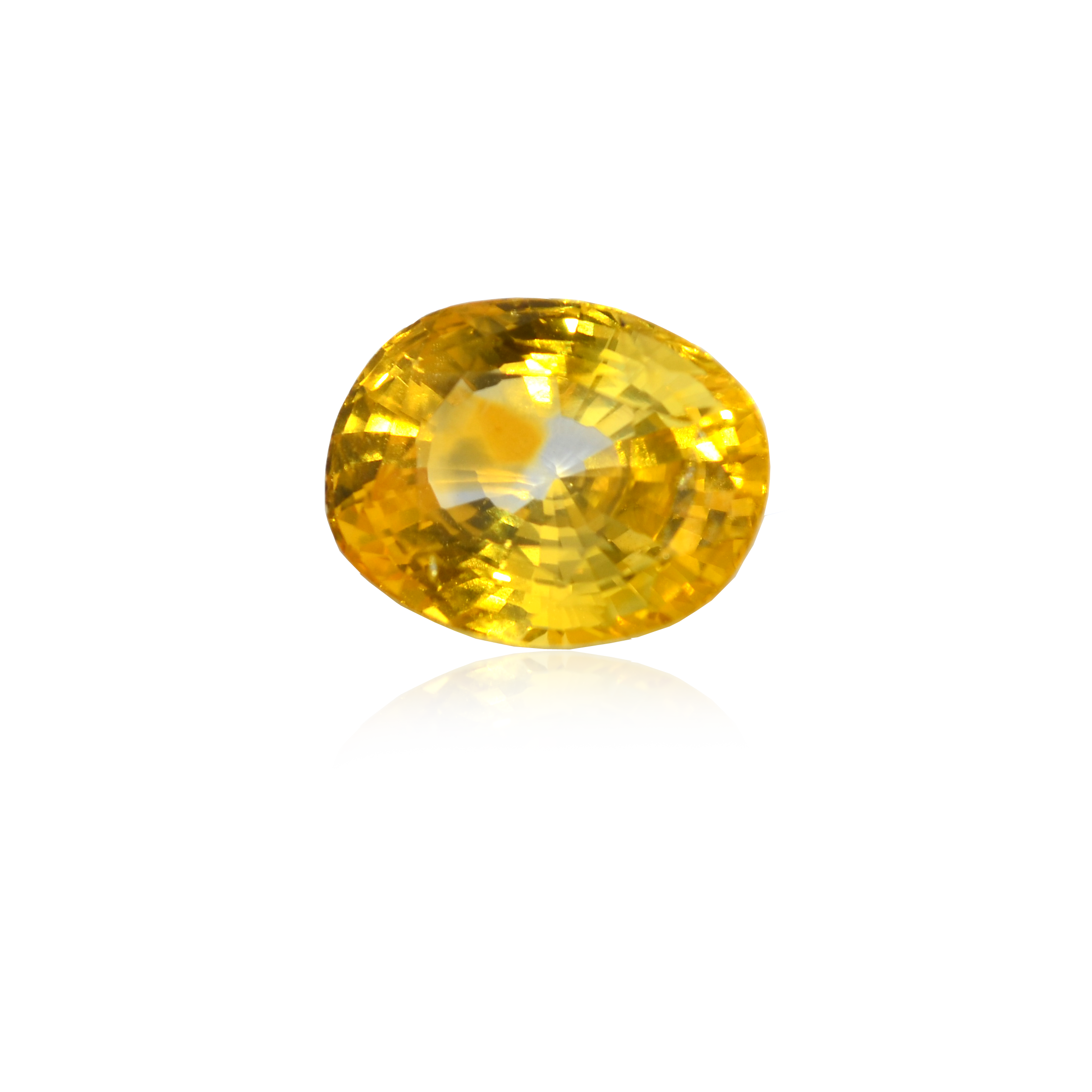 7.37 CARAT, OVAL MIXED CUT NATURAL YELLOW SAPPHIRE