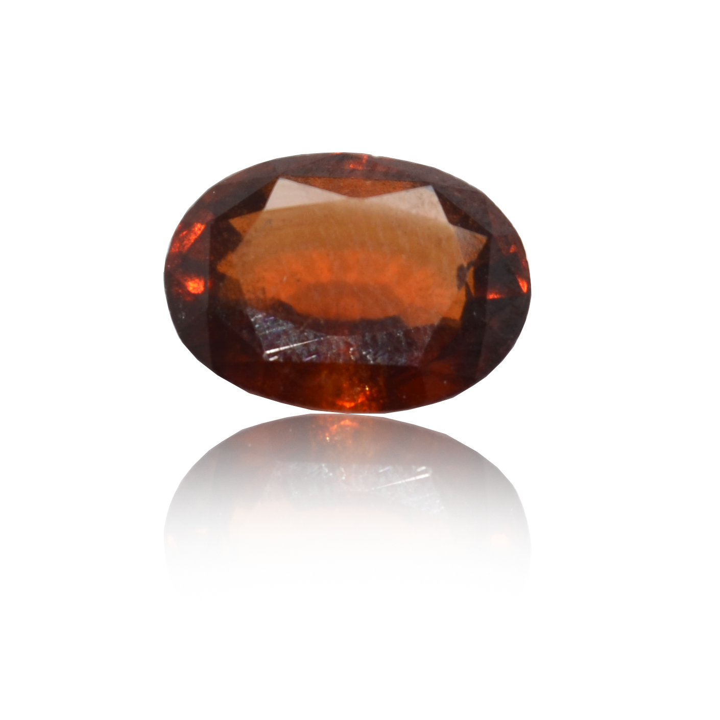 4.56 CARAT, OVAL MIXED CUT NATURAL HESSONITE GARNET