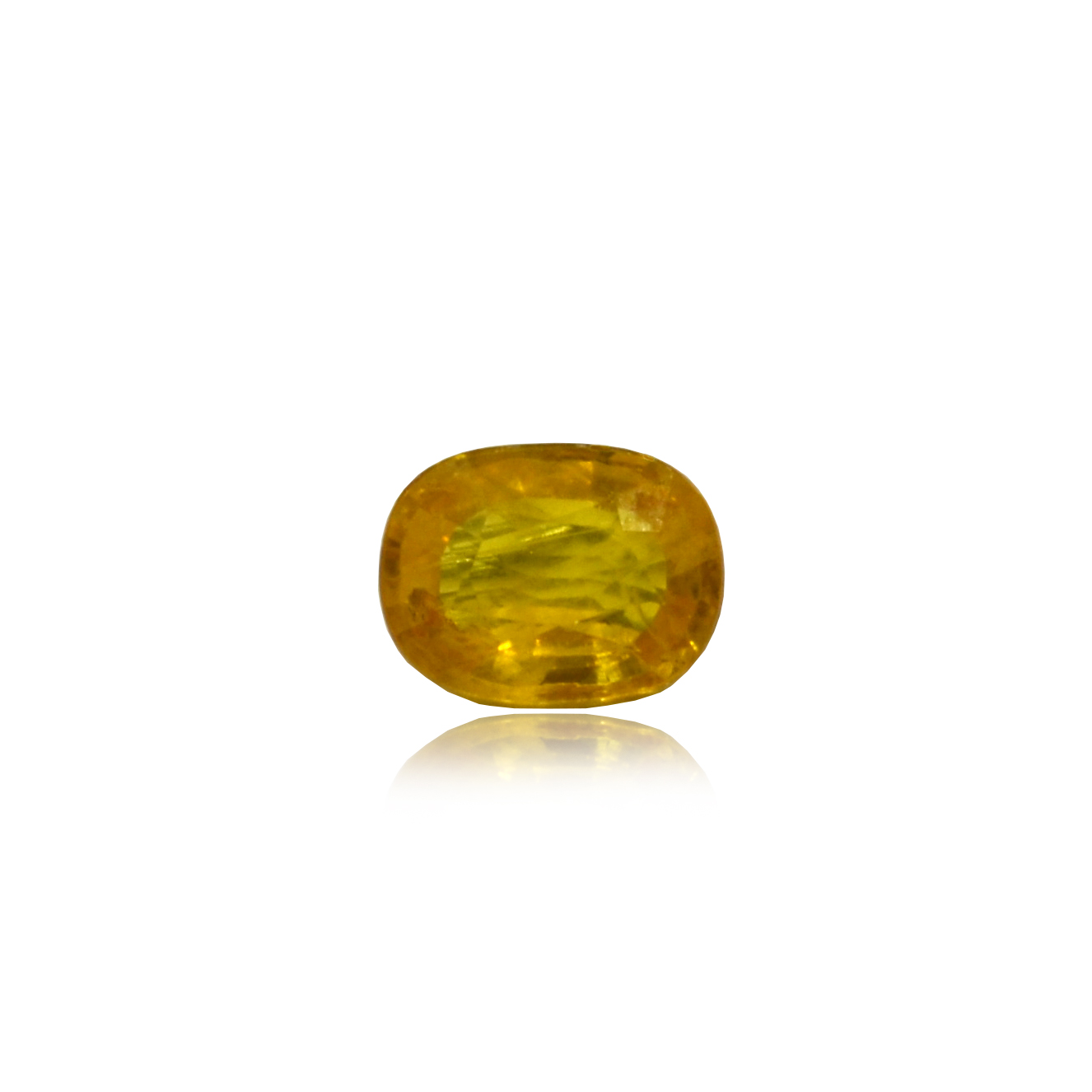 4.75 CARAT, OVAL MIXED CUT NATURAL YELLOW SAPPHIRE