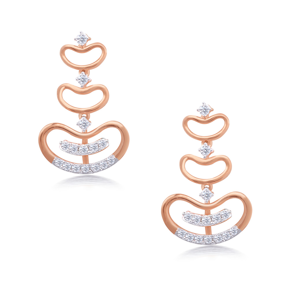 Adorable Princess Diamond Earrings