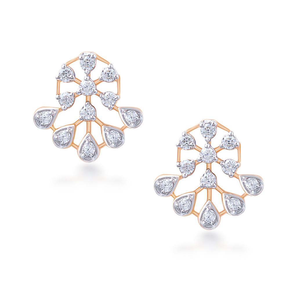Charming Couple Diamond Earrings