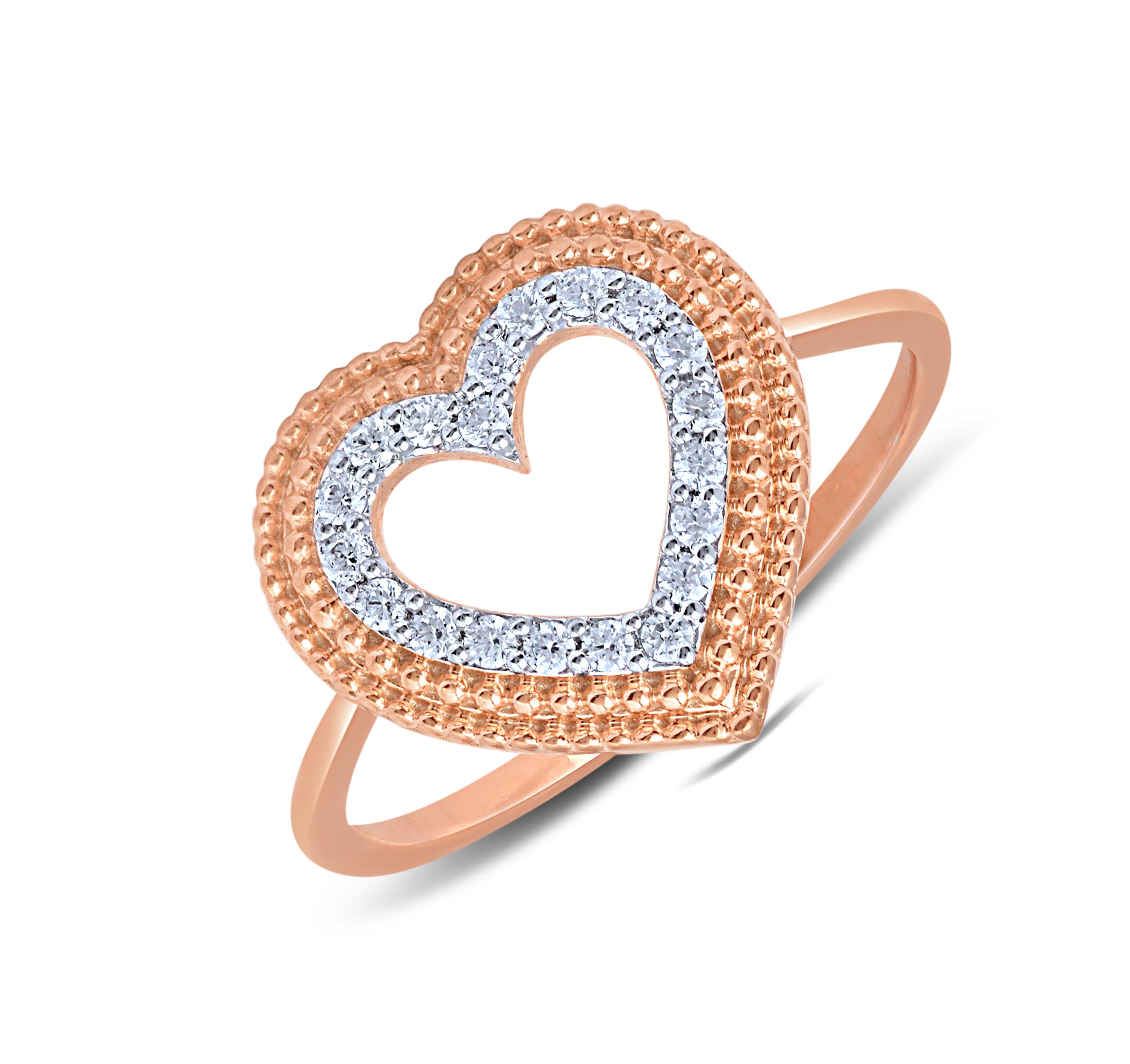 Flare Diamond Studded Ring