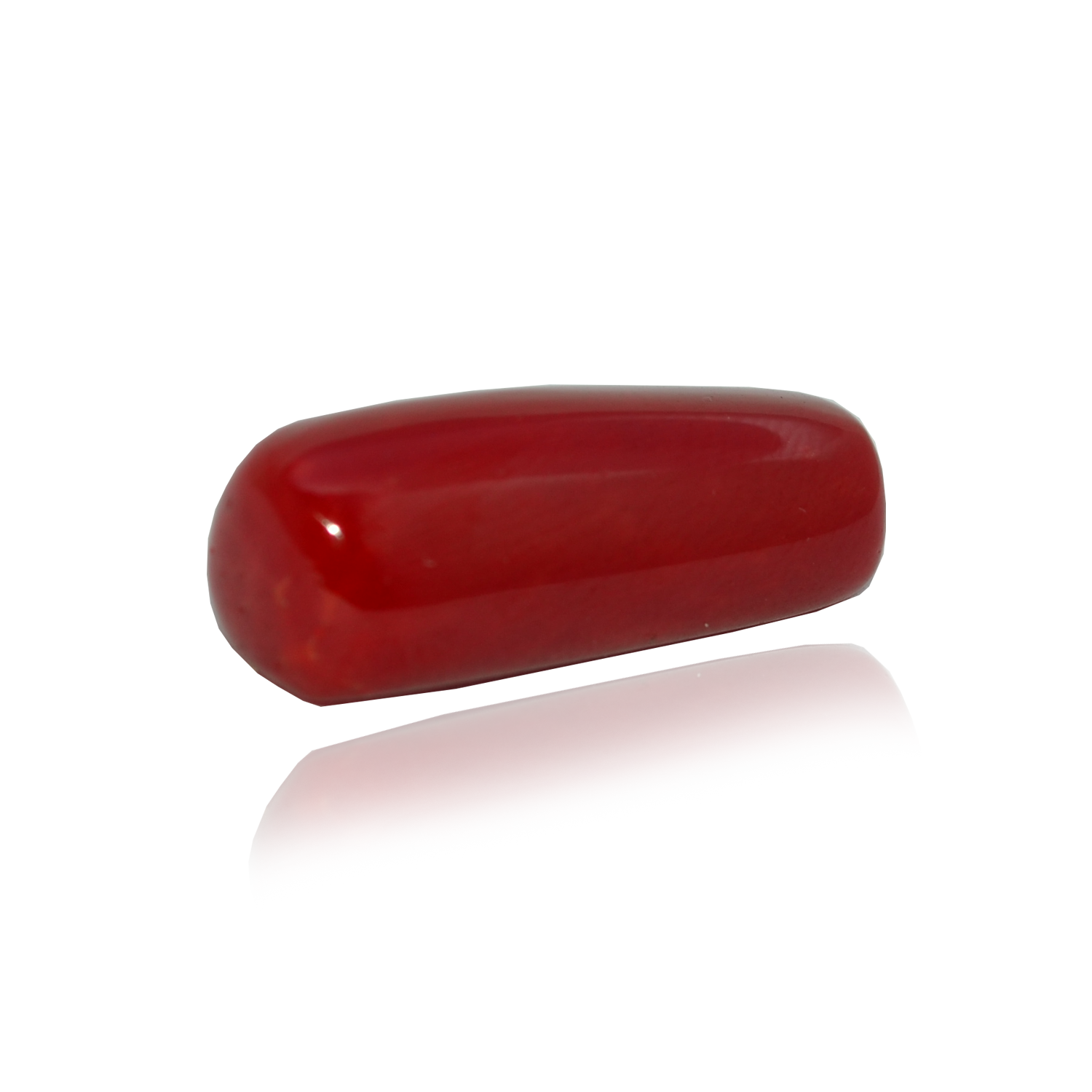 15.2 CARAT, OVAL CABOCHON CUT NATURAL RED CORAL