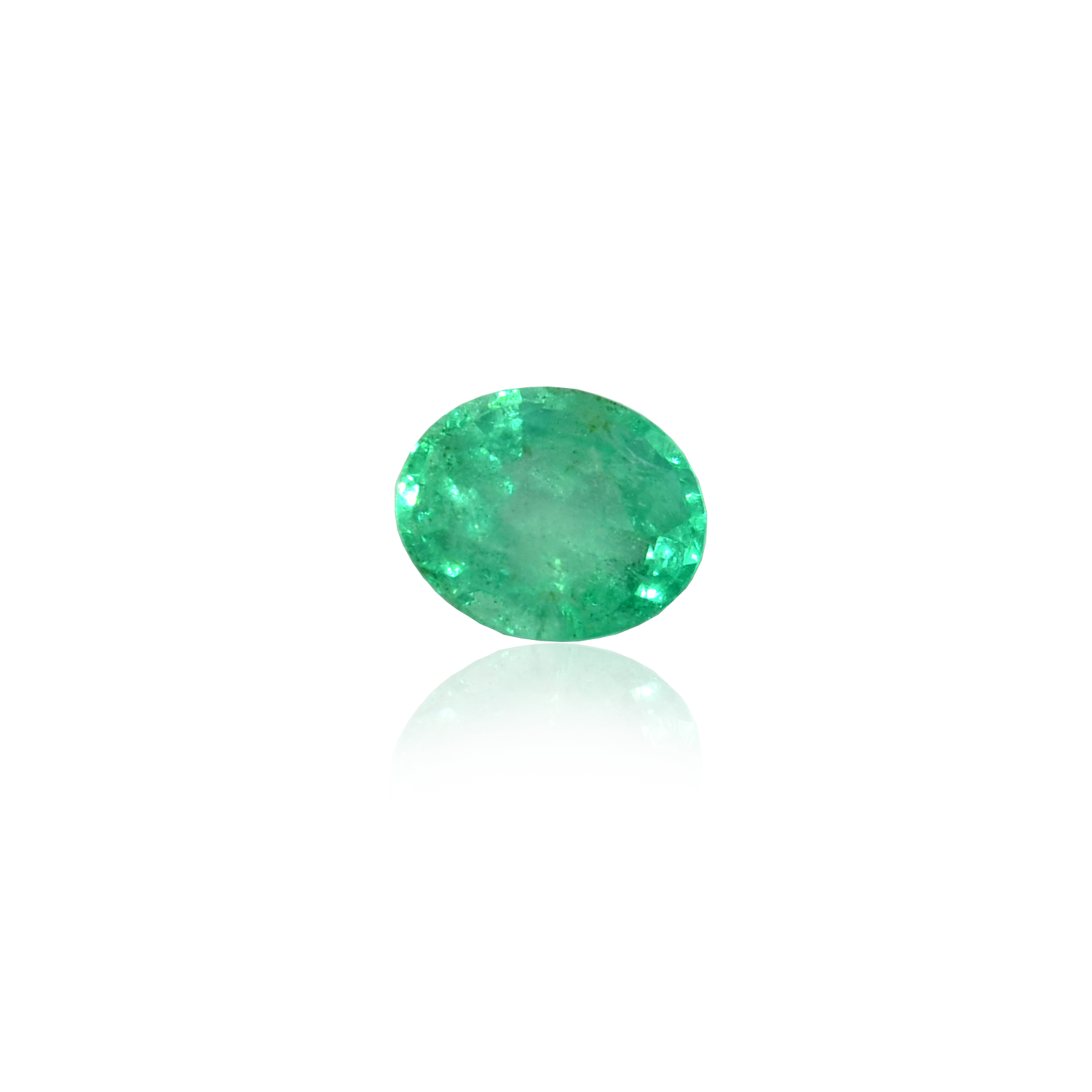 4.41 CARAT, OVAL MIXED CUT NATURAL EMERALD