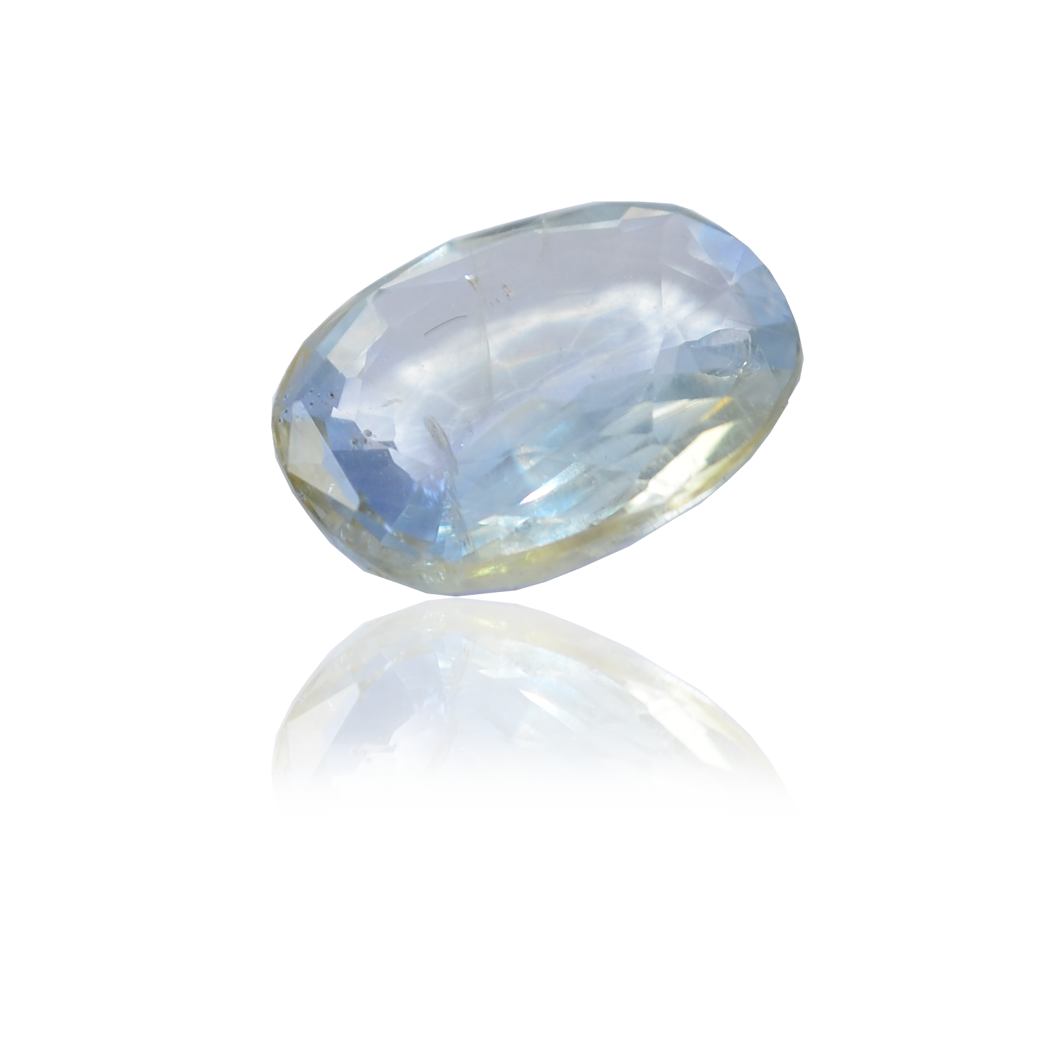 4.55 CARAT, OVAL MIXED CUT NATURAL BLUE SAPPHIRE