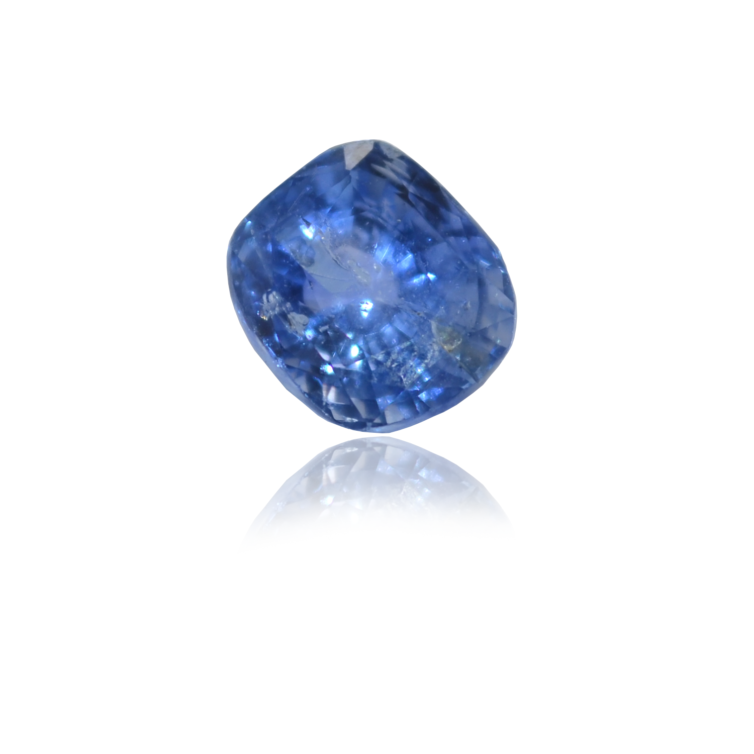 4.90 CARAT, RECTANGULER MIXED CUT NATURAL BLUE SAPPHIRE