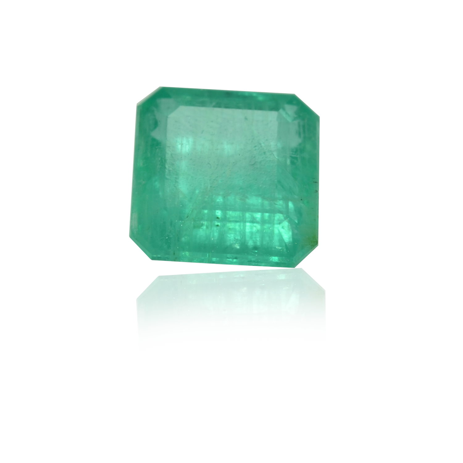 7.63 CARAT, SQURE MIXED CUT NATURAL EMERALD