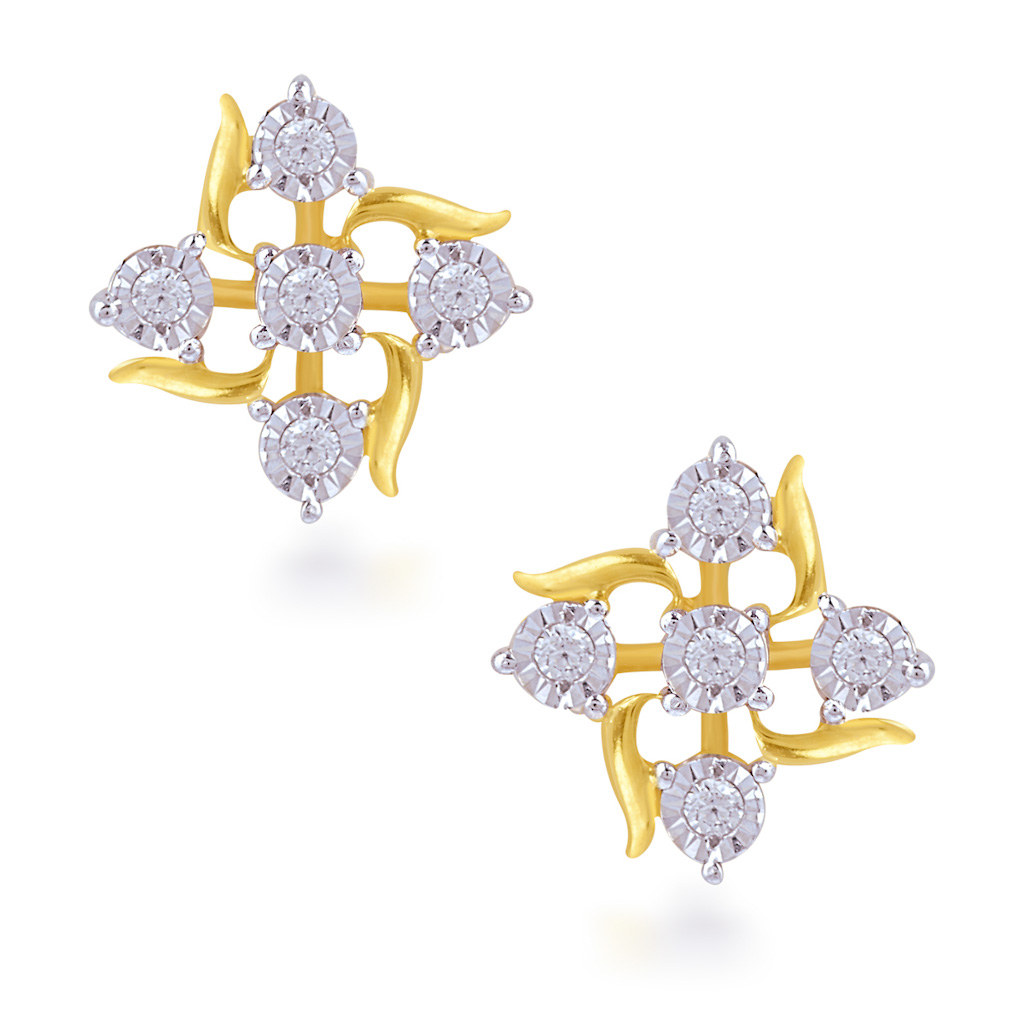 Feminine Aura Diamond Earrings