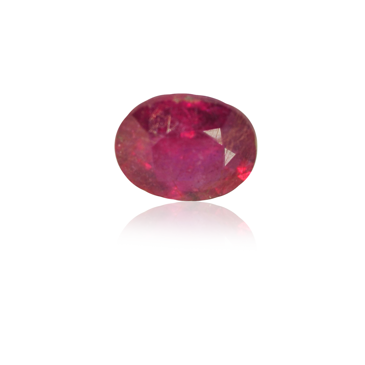 3.45 CARAT, OVAL MIXED CUT NATURAL RUBY